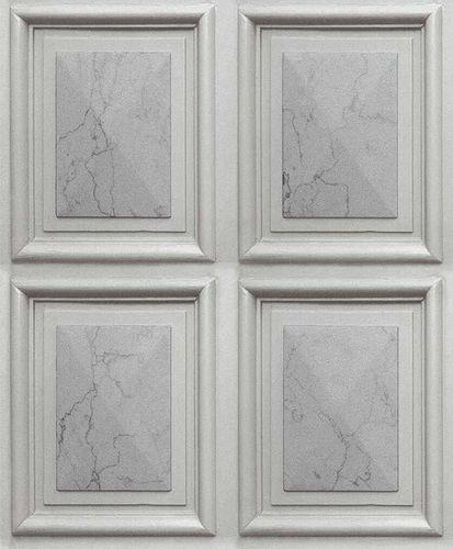 Wallpaper marble boarding 3D light grey Erismann 6319-10 online kaufen