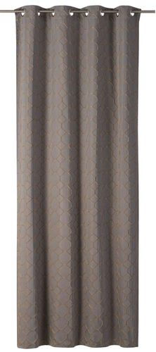 Eyelet Drape Alhambra non-transparent comb taupe-coppery 199210 online kaufen