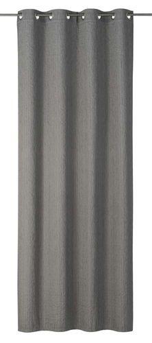 Eyelet Drape Corteza non-transparent plain grey 199142 online kaufen