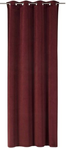 Eyelet Drape Odeon non-transparent plain red 199012 online kaufen