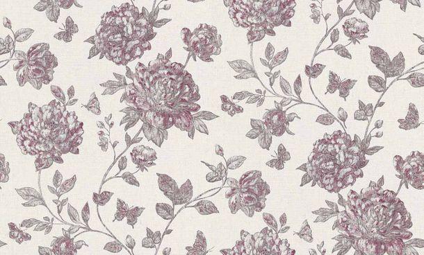 Vlies Tapete Floral grauweiß violett Erismann Vintage 6335-16 online kaufen