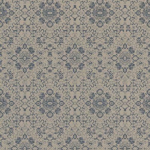 Vlies Tapete Ornament grau blau Rasch Textil Palau 228877