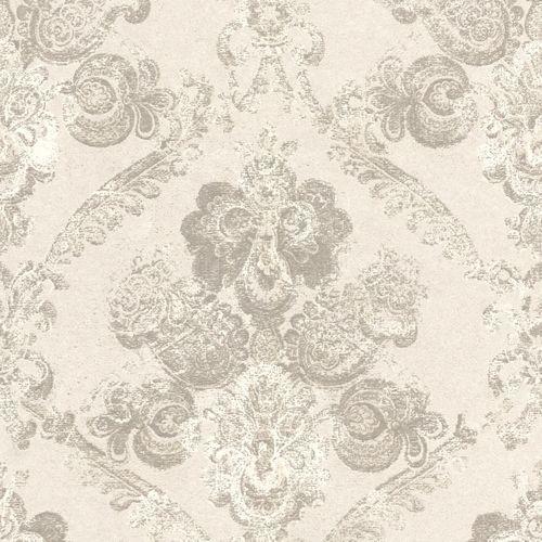 Vlies Tapete Barock weißgrau Rasch Textil Palau 228945