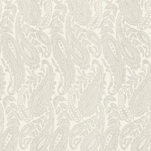 Vlies Tapete Paisley weiß silber Rasch Textil Palau 229027