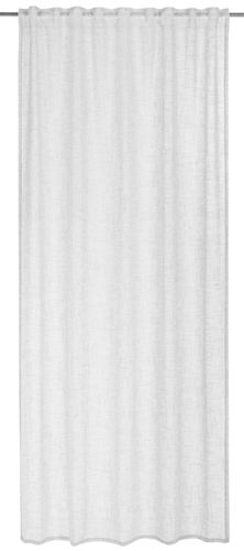 BARBARA Home Collection Loop Curtain plain white 140x255cm online kaufen