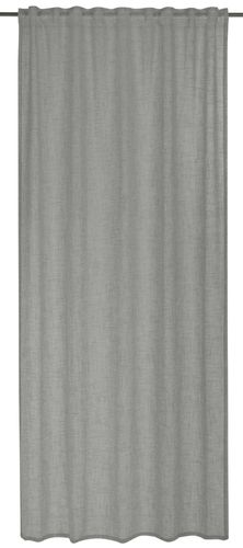 BARBARA Home Collection Loop Curtain plain grey 140x255cm online kaufen
