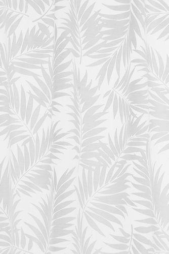 BARBARA Home Collection Schlaufenschal Blätter weiß 135x255cm online kaufen