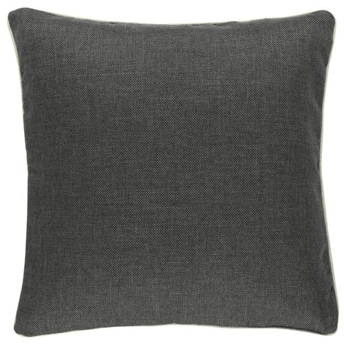 Pillow Case BARBARA Home Collection plain textured grey 50x50cm