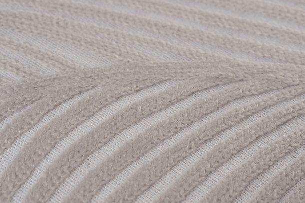 BARBARA Home Collection Kissenbezug Wellen creme 50x50cm