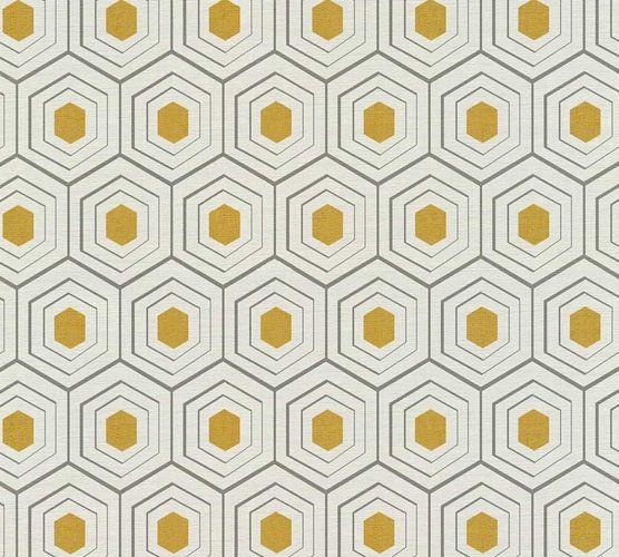 Vlies Tapete Waben Optik creme grau AS Creation 35899-3 online kaufen