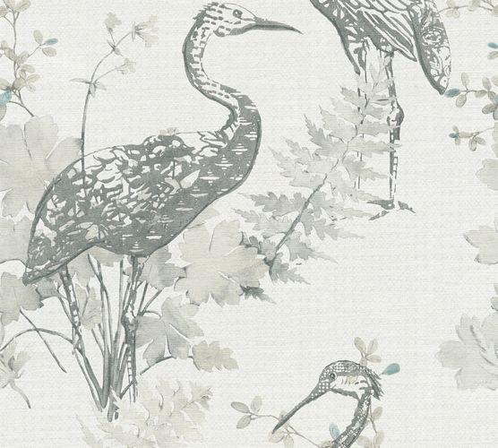 Vlies Tapete Kranich cremeweiß grau AS Creation 36092-2 online kaufen