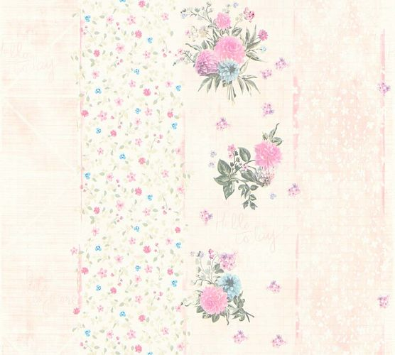 Vlies Tapete florale Streifen rosa Glanz AS Creation 35878-1