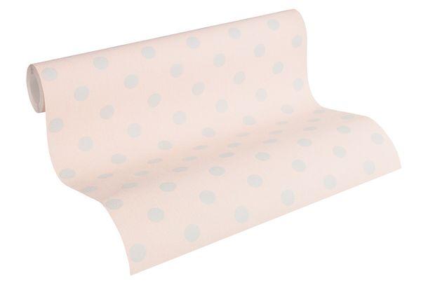 Vlies Tapete Gepunktet rosa hellgrau AS Creation 36148-1