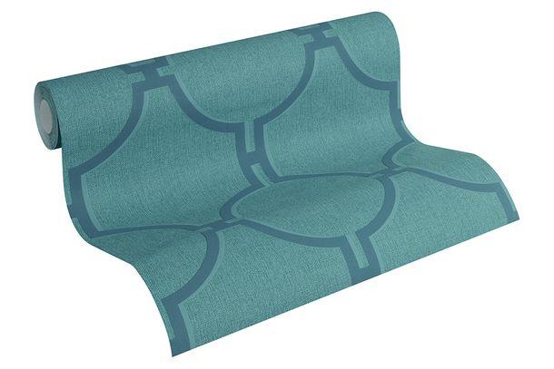 Vlies Tapete Grafisch blaugrün blau AS Creation 36149-6