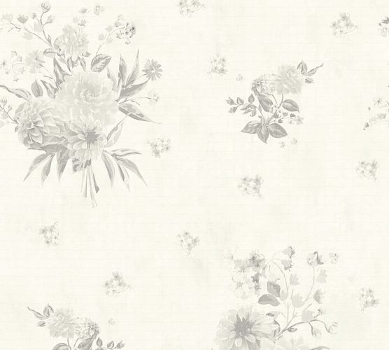 Vlies Tapete Floral hellgrau creme AS Creation 35873-4