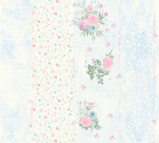Vlies Tapete florale Streifen blau Glanz AS Creation 35878-2
