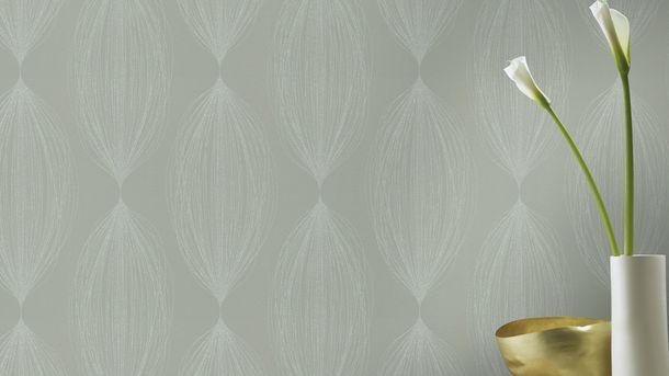 rasch vlies tapete b ndel gr n silber glitzer 523423. Black Bedroom Furniture Sets. Home Design Ideas