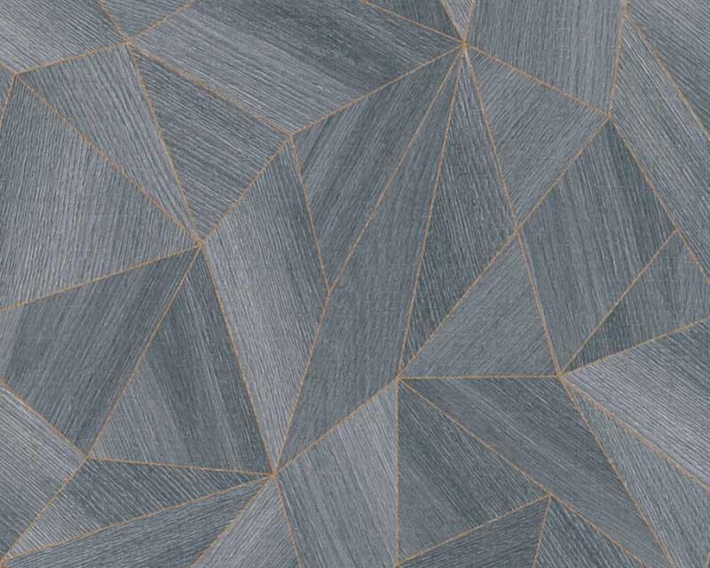 cheap for discount b6d73 0f16a Wallpaper Daniel Hechter 3D geometric anthracite 36133-3