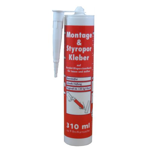 Styrofoam Adhesive Glue by Wilckens Cartridge 310ml