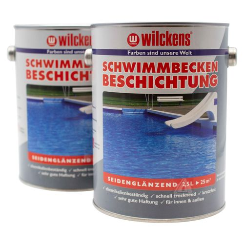 Waterproof Paint for Swimming Pools by Wilckens Blue 2,5 litre