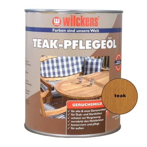 Teak Pflegeöl Teaköl Hartholz-Öl Wilckens | farblos + teak 1 L