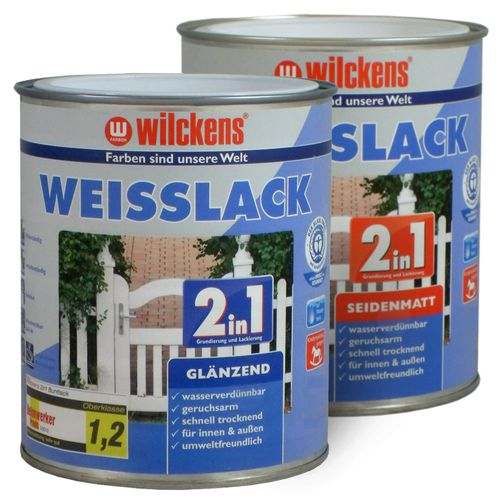 2in1 White Lacquer by Wilckens gloss & silk-mat 0,75 litre online kaufen