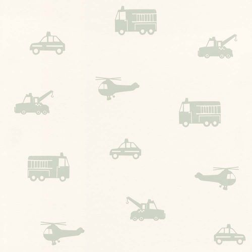 Wallpaper child Cars Helicopter white mint green 128856 online kaufen