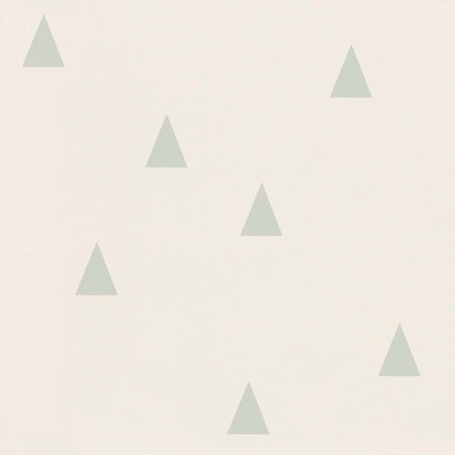 Vliestapete Kinder Dreiecke weiß mintgrün 128868