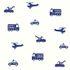 Vliestapete Kinder Autos Hubschrauber blau weiß 137321 001