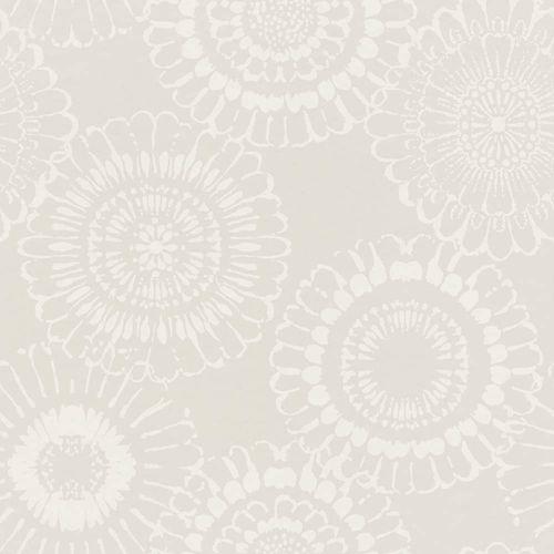 Kid's Wallpaper Non-Woven Flowers silver white 138910 buy online