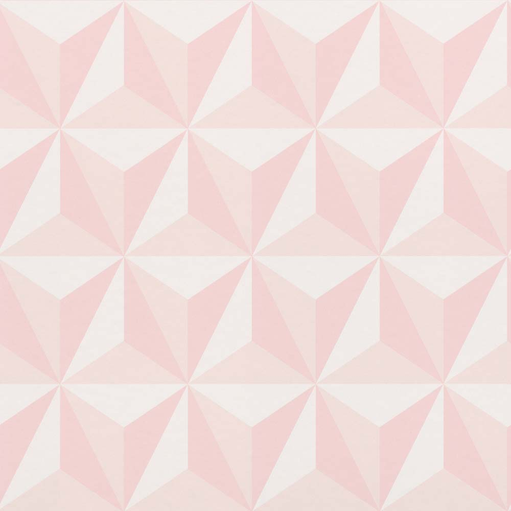 Wallpaper Child 3d Triangle Pink White 138911