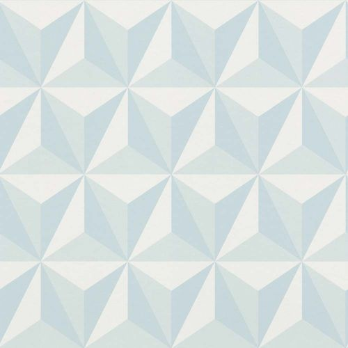 Wallpaper child 3D Triangle light blue Rasch Textil 138912