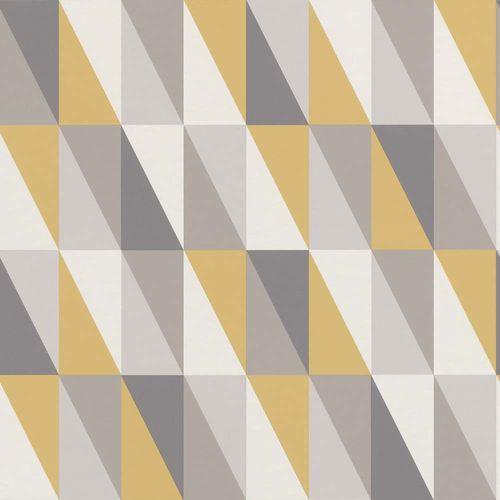Vliestapete Kinder Vlies Dreiecke grau goldgelb 138921 online kaufen
