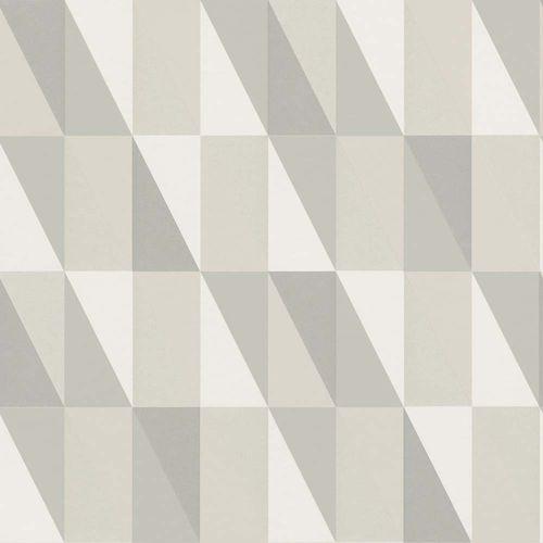 Vliestapete Kinder Vlies Dreiecke hellgrau beige 138922