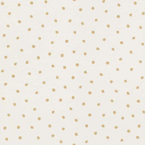Vliestapete Kinder Tupfen weiß gold Rasch Textil 138937 online kaufen