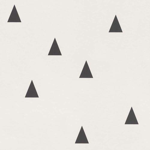 Vliestapete Kinder Dreiecke weiß schwarz 138942 online kaufen