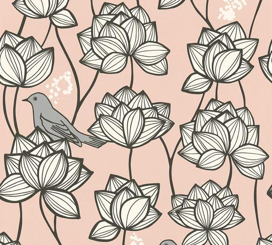 Vlies Tapete Floral Vögel rosa weiß AS Creation 36317-4