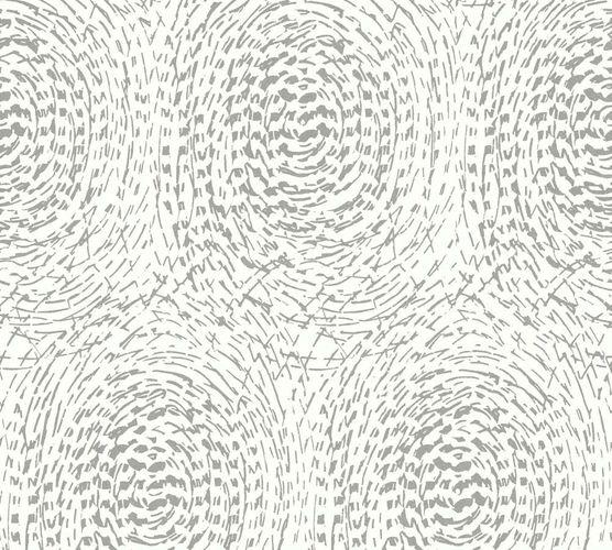 Vlies Tapete Abtrakt Kreis weiß Glanz Architects Paper 33373-2