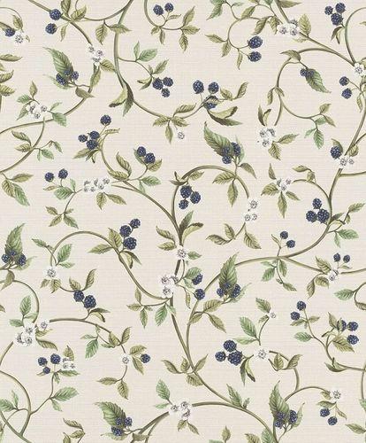 Vlies Tapete Beeren Floral creme blau Rasch 400816 online kaufen