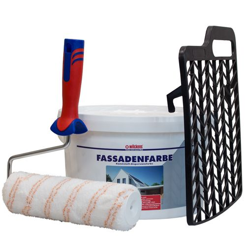 Decorator Set + Dispersion Facade Painting White 10l Wilckens online kaufen