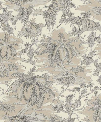 Vlies Tapete Palmen Dschungel beigegold grau Rasch 526141 online kaufen
