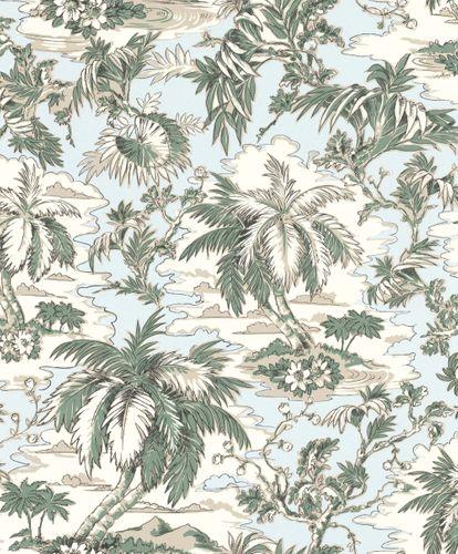 Wallpaper non-woven palms tropical cream green Rasch 526158 online kaufen