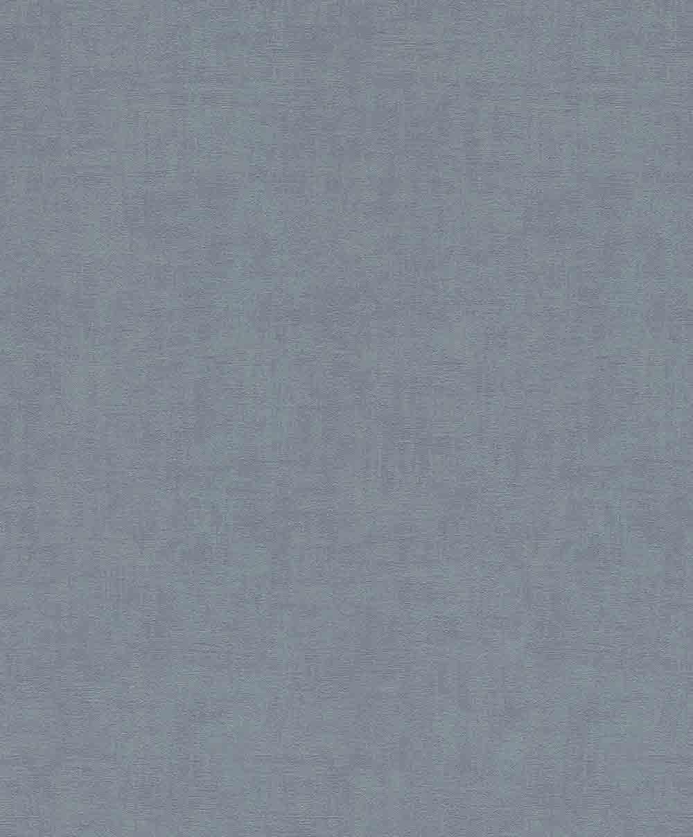 Wand Graublau: Vlies Tapete Uni Einfarbig Rasch Graublau 489781