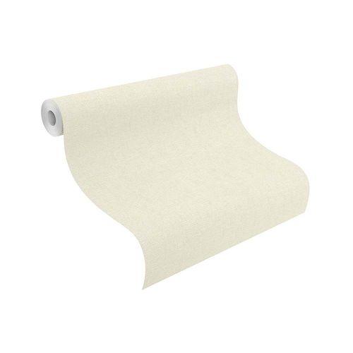 Tapete Vlies Rasch Uni Textil-Design creme 802900