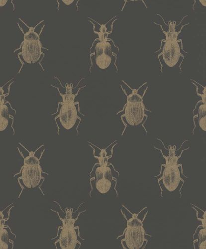 Wallpaper Insects Bugs black gold Metallic Rasch Textil 289519 online kaufen