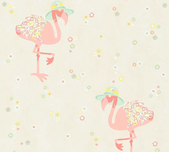 Non-Woven Wallpaper Flamingo cream-beige livingwalls 36291-1 online kaufen