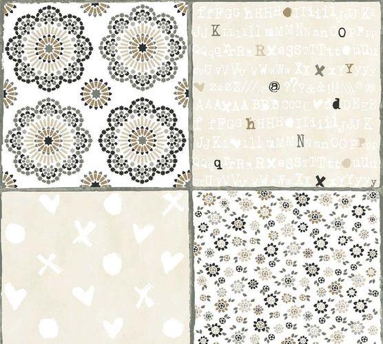 Non-Woven Wallpaper Tiles white brown livingwalls 36296-1 online kaufen