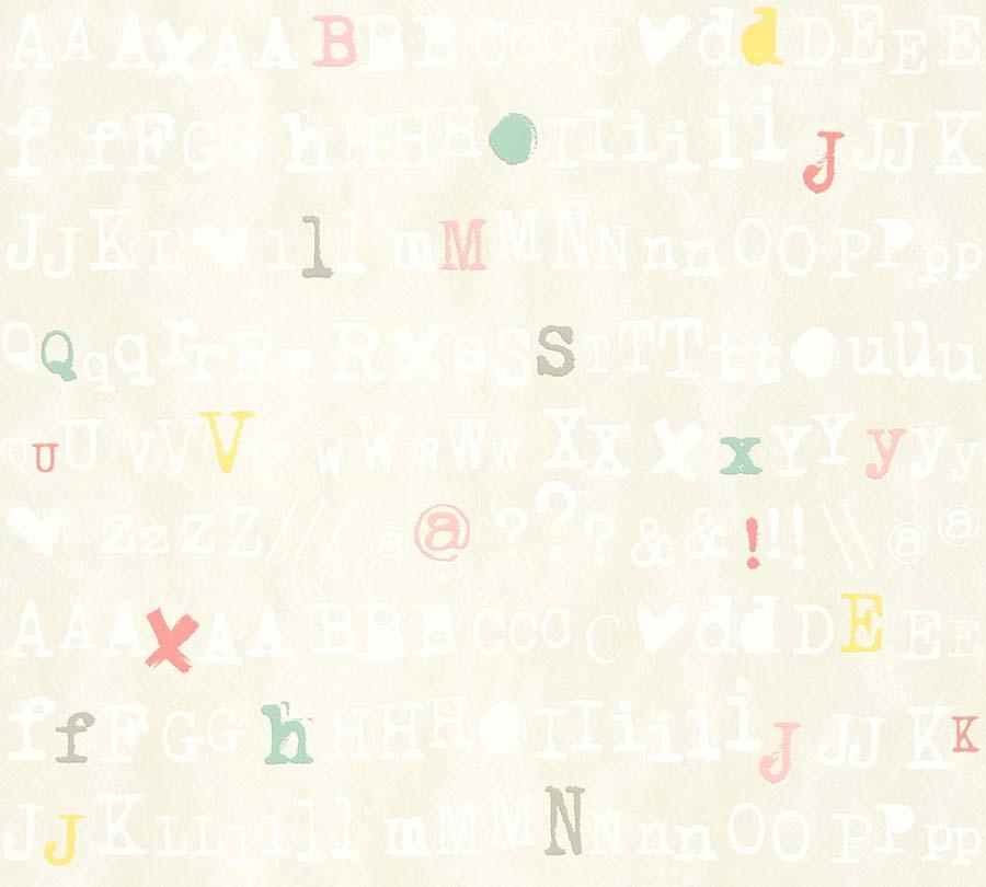 Vlies Tapete Schrift Design Cremebeige Livingwalls 36298 2