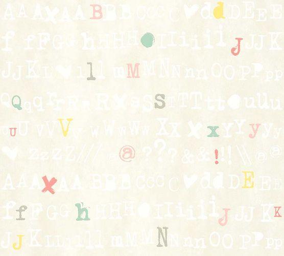 Vlies Tapete Schrift Design cremebeige livingwalls 36298-2