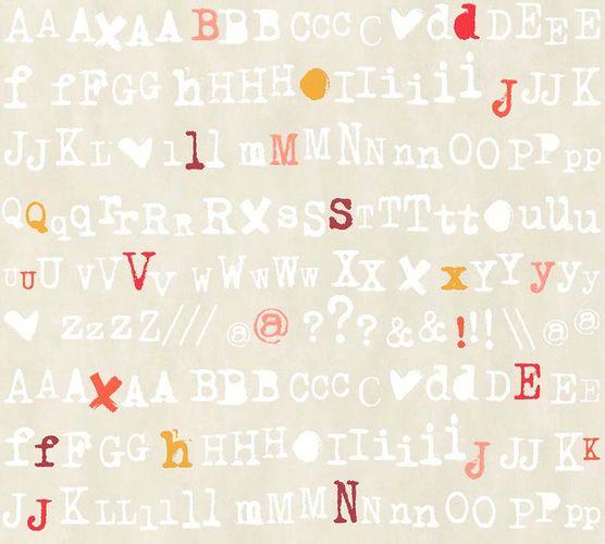 Vlies Tapete Schrift Design beige rot livingwalls 36298-4